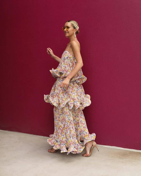 dress floral dress maxi dress sleeveless dress sandals summer dress atlantic pacific