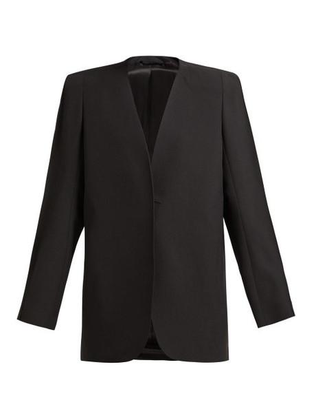 jacket black wool