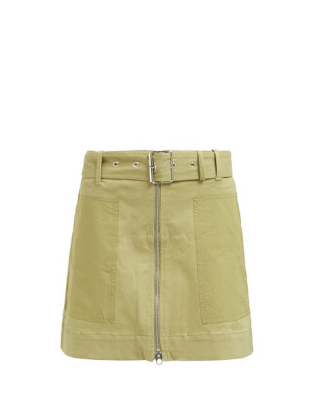 Proenza Schouler Pswl - Utility Stretch Cotton Twill Skirt - Womens - Green