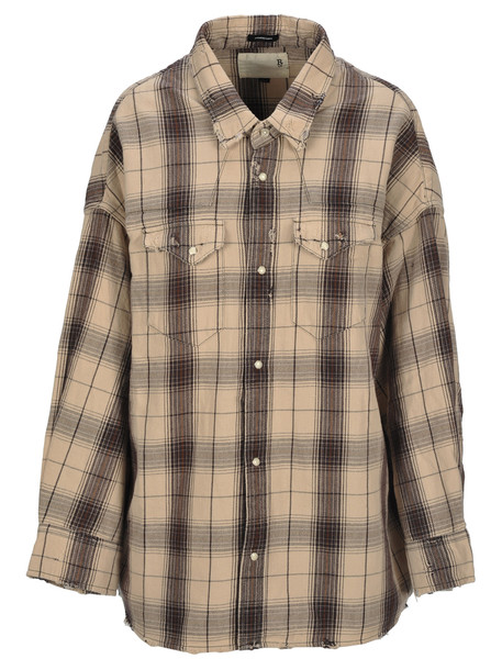 R13 Oversized Cow-boy Style Shirt in ecru
