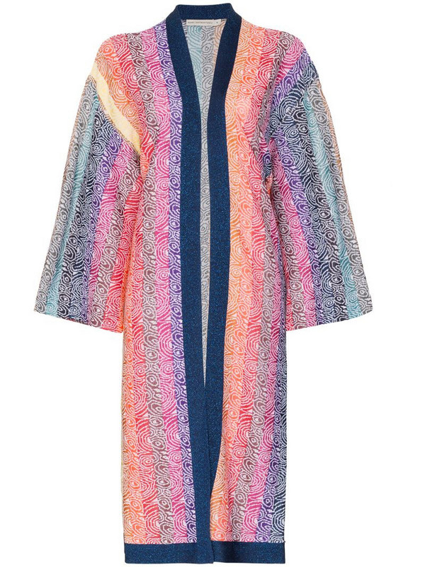Mary Katrantzou Sola rainbow stripe knit cardigan in blue
