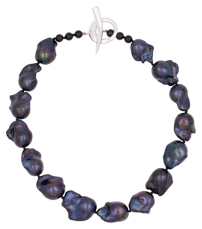Sophie Buhai Baroque black pearl and sterling silver necklace