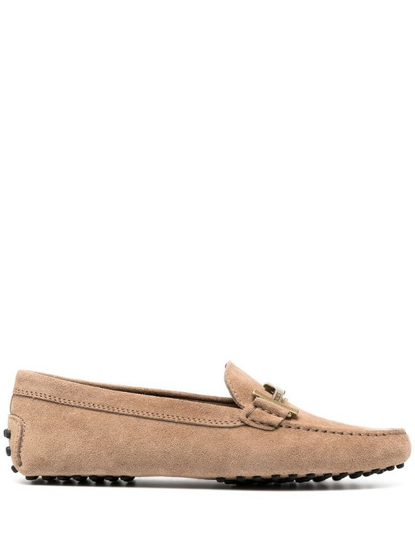 Tod's T-buckle driving loafers in neutrals