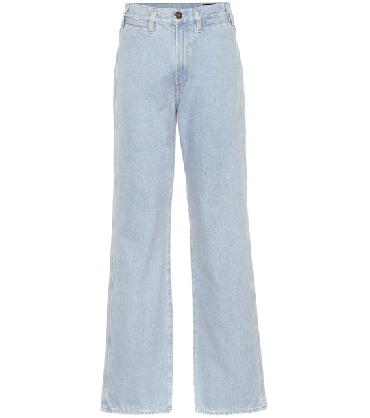 Goldsign The Trouser high-rise wide-leg jeans in blue