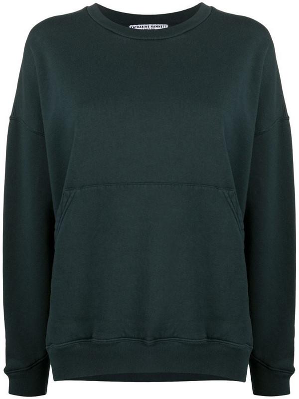 Katharine Hamnett London Joey organic cotton sweatshirt in green