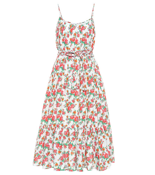 RHODE Lea floral cotton midi dress