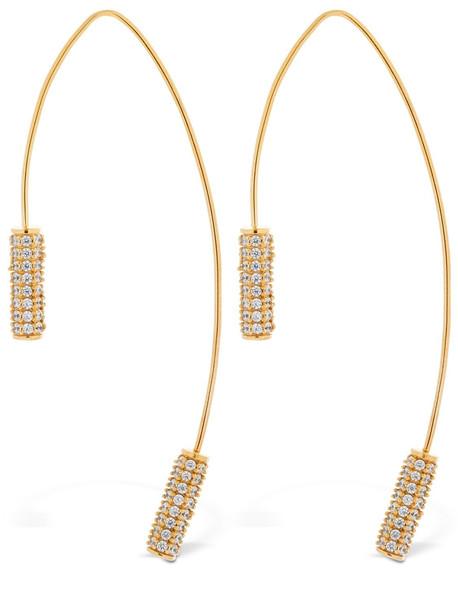 JOANNA LAURA CONSTANTINE Tribal Statement Hoop Earrings in gold / pink