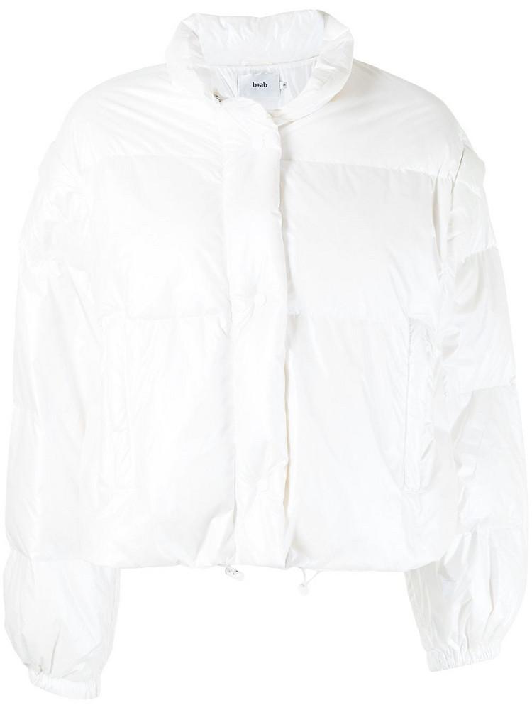 b+ab b+ab long-sleeved padded jacket - White