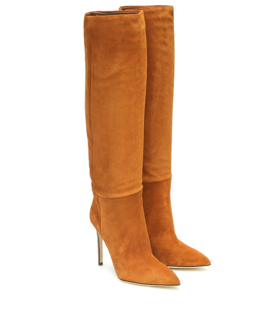 Paris Texas Suede knee-high boots in brown