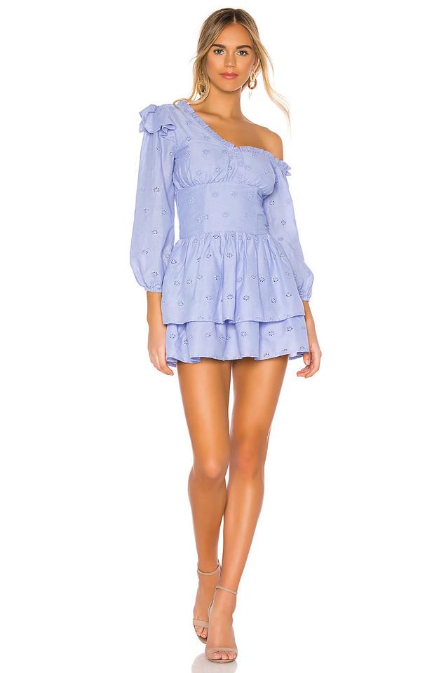 MAJORELLE Oliver Mini Dress in blue
