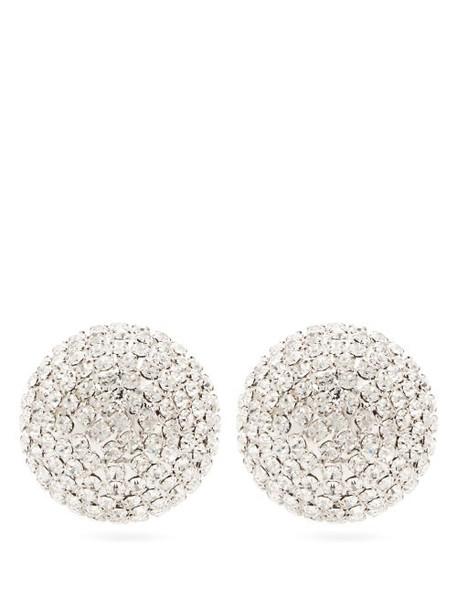 Alessandra Rich - Half Sphere Crystal Earrings - Womens - Crystal