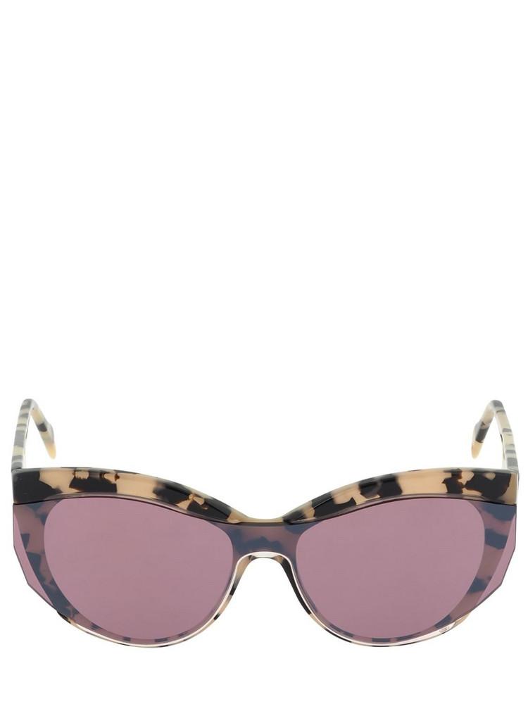 ANDY WOLF Maria Cat-eye Acetate Sunglasses in beige