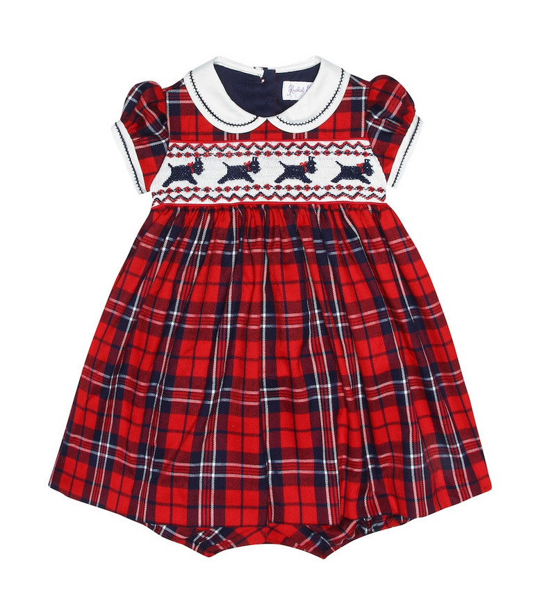 Rachel Riley Baby checked dress in red