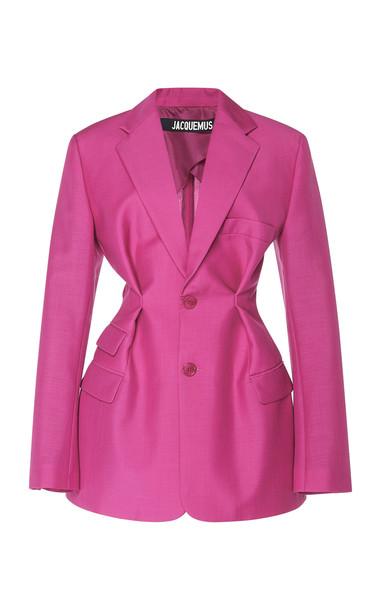 Jacquemus Raffaella Wool Blazer Size: 40 in pink