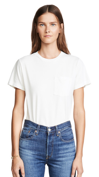 Citizens of Humanity Lela Pocket Tee in cream