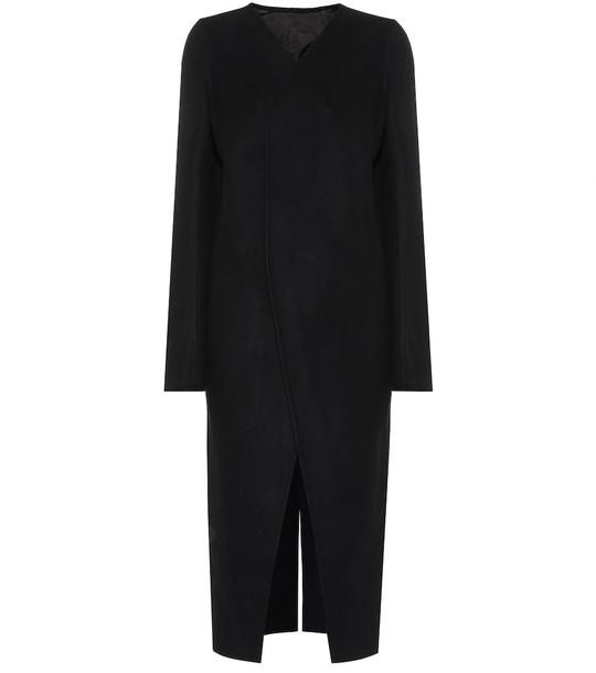 Rick Owens Wool blend coat in black