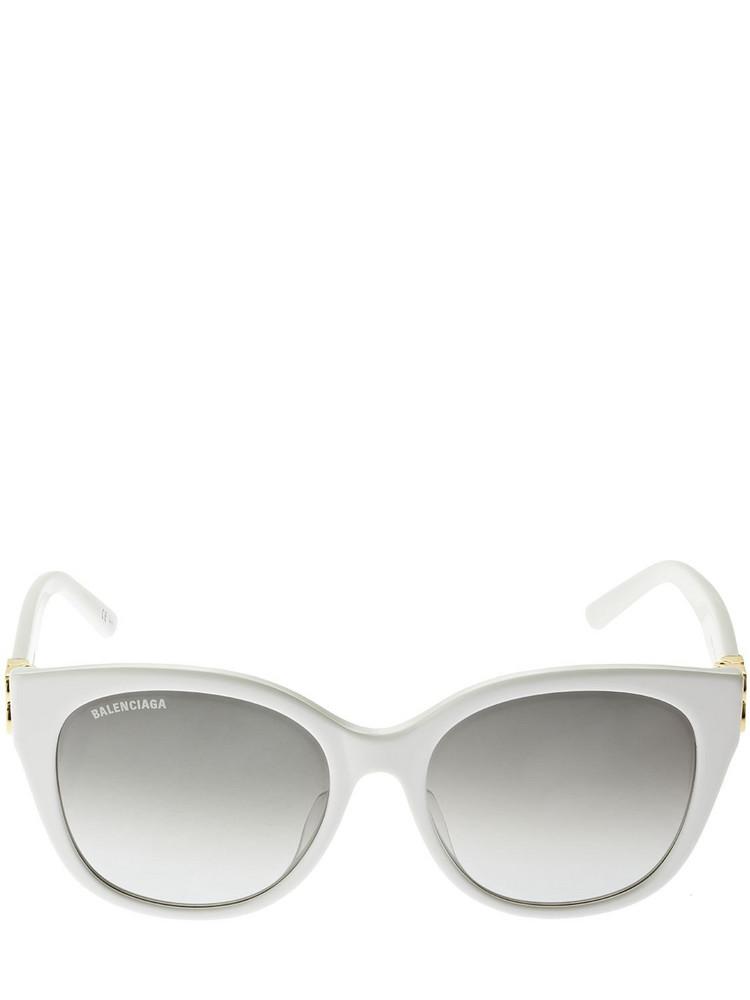 BALENCIAGA Dynasty Cat-eye Acetate Sunglasses in grey / white