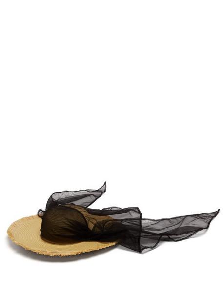 4 Moncler Simone Rocha - Tulle Trim Papier Hat - Womens - Beige