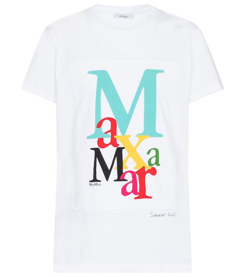 Max Mara Humour cotton jersey T-shirt in white