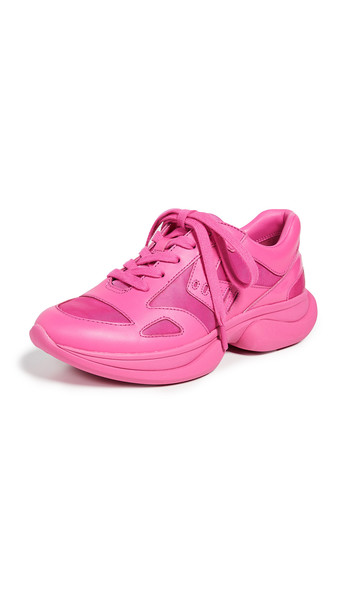 Tory Sport Molded Lace Up Sneakers in pink