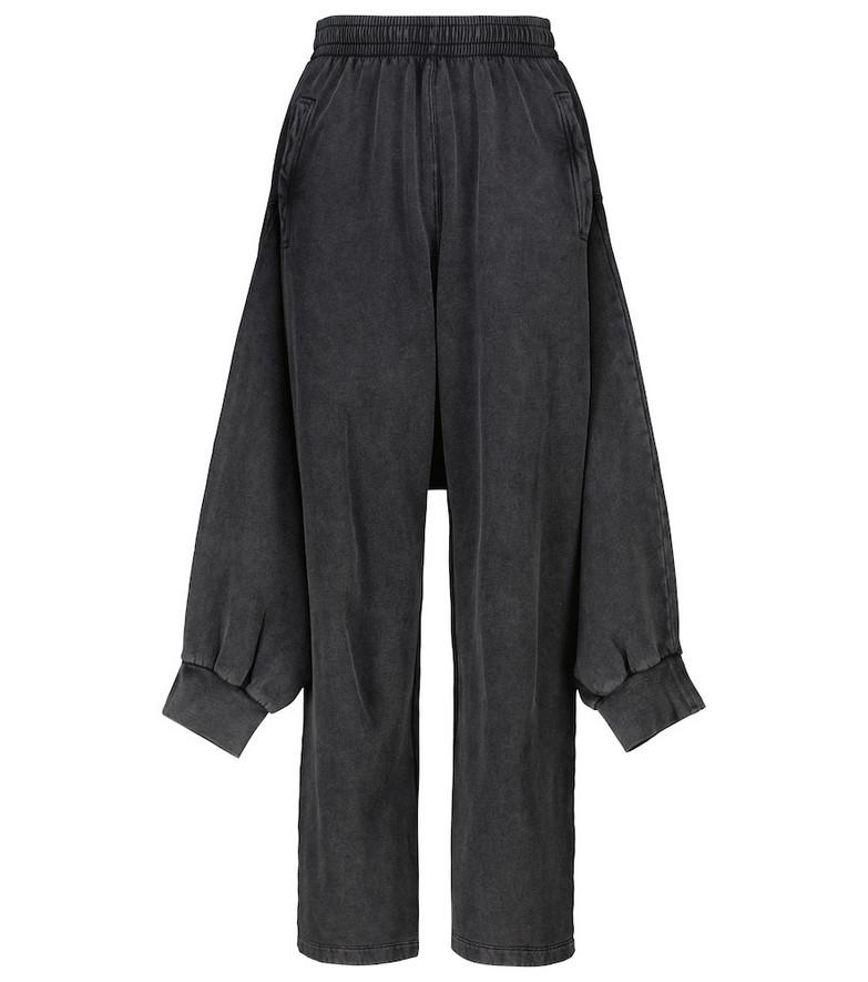 Balenciaga Organic cotton fleece sweatpants in black