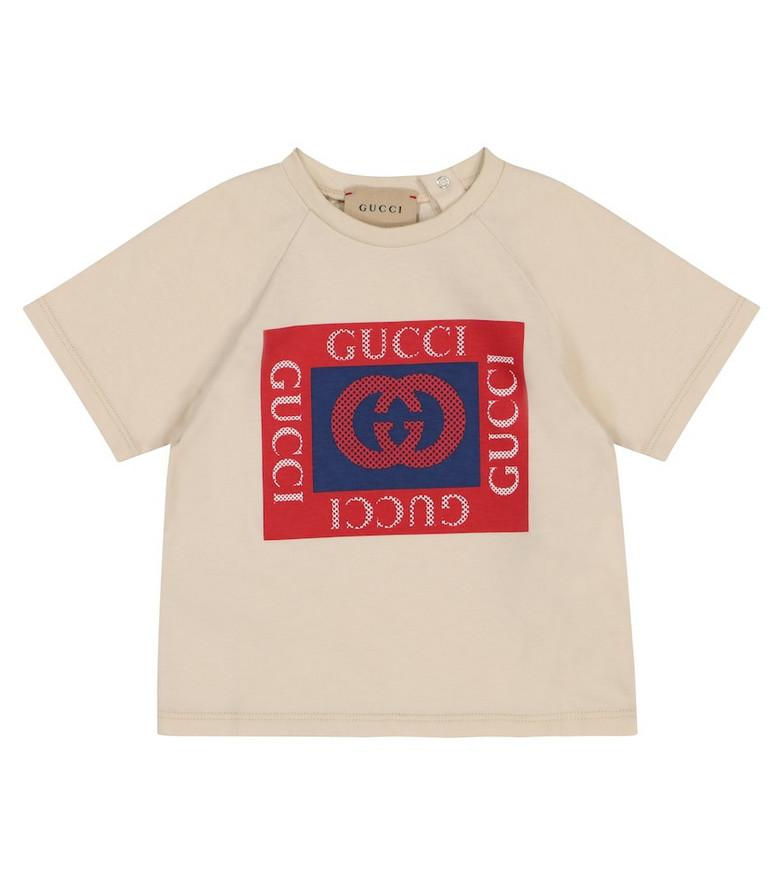 Gucci Kids Baby logo cotton T-shirt in beige