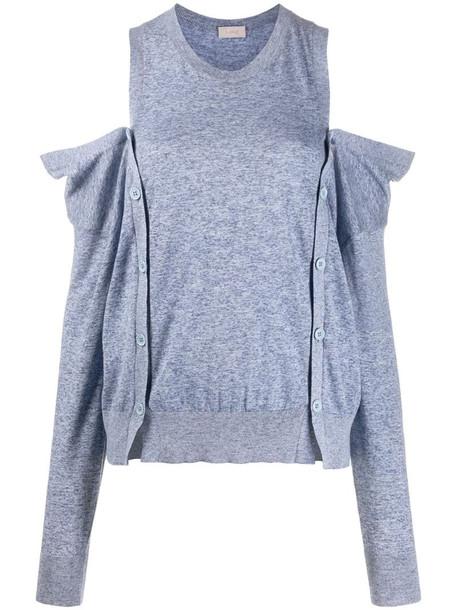 MRZ cold-shoulder jumper in blue
