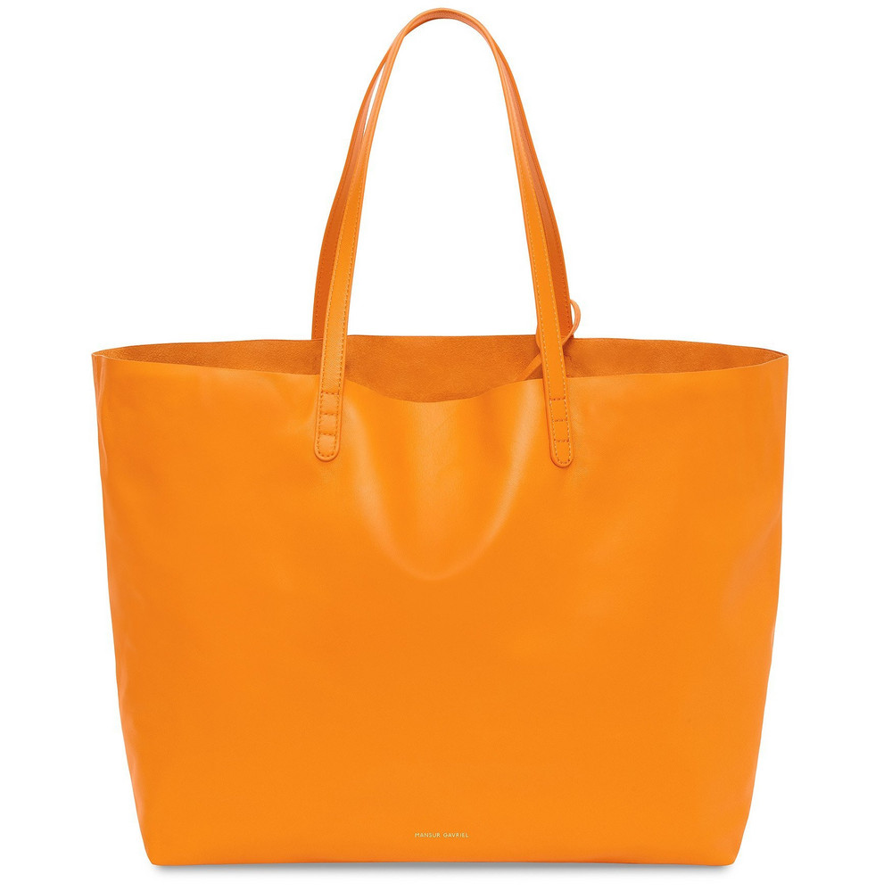 Mansur Gavriel Lamb Oversized Tote - Orange