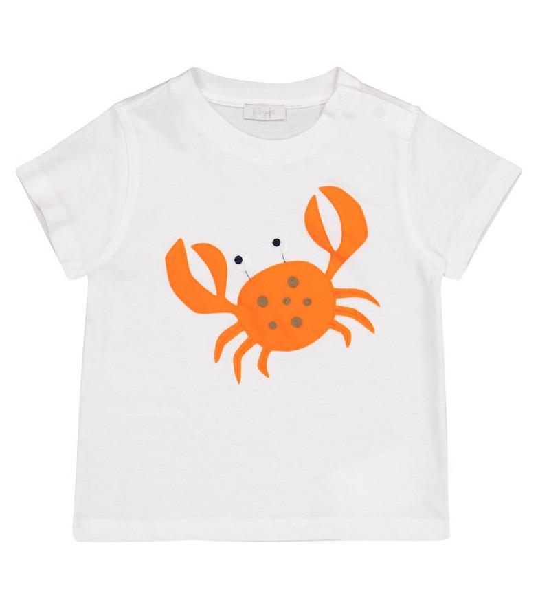 Il Gufo Baby appliquéd cotton jersey T-shirt in white