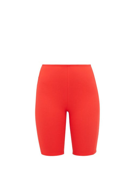 Paco Rabanne - Bodyline Logo Jacquard Cycling Shorts - Womens - Red