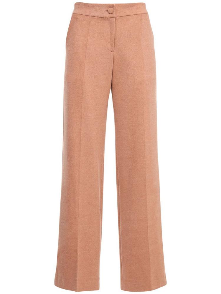 MATÉRIEL Low Waist Viscose Blend Straight Pants in pink