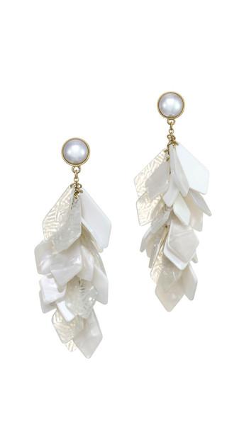 Stella + Ruby Stella + Ruby White Stone Earrings