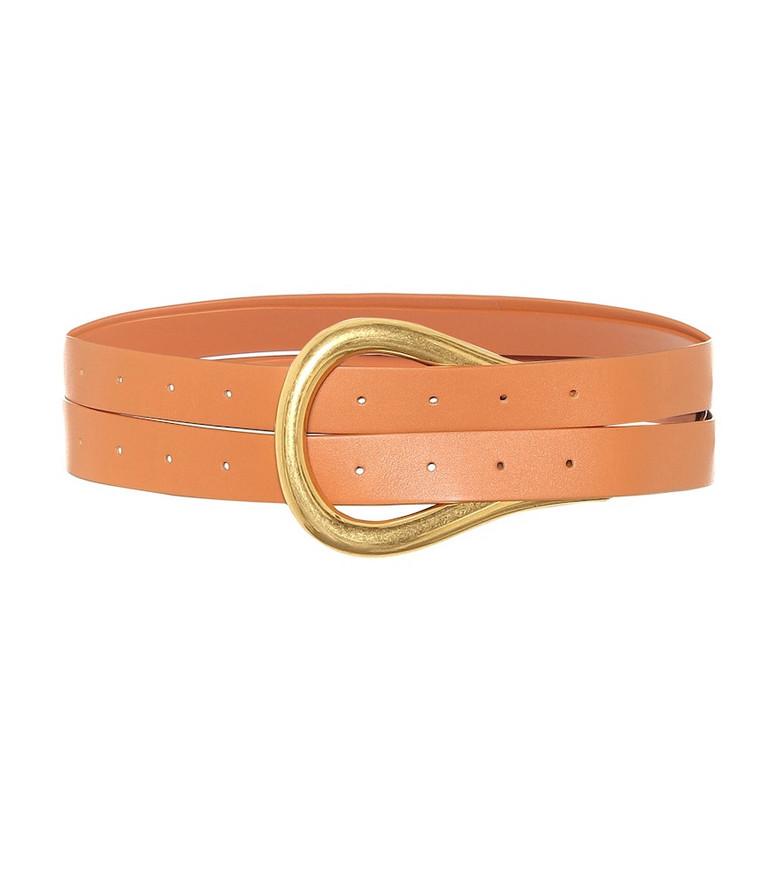Bottega Veneta Leather belt in orange