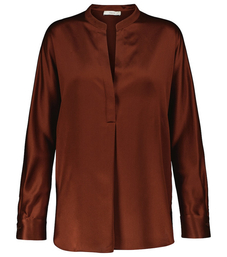 Vince Satin blouse in red