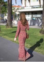 dress,michael michael kors long sleeve maxi dress red floral