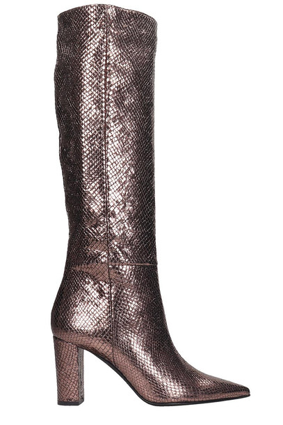 Marc Ellis Boots In Bronze Leather