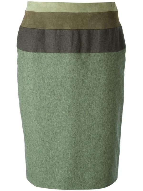 Jean Louis Scherrer Pre-Owned straight skirt in green