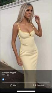 dress,yellow dress,spaghetti strap,formal dress,long dress