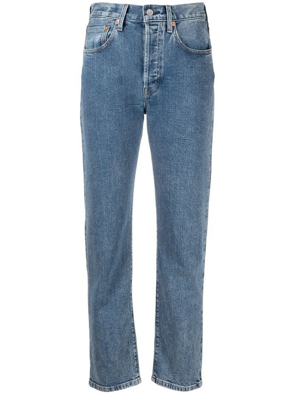 Levi's: Made & Crafted The Column straight-leg jeans in blue