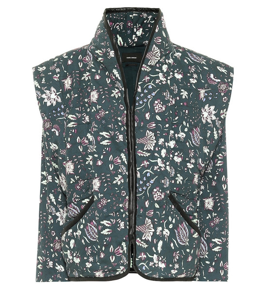 Isabel Marant Anissaya floral cotton jacket in green