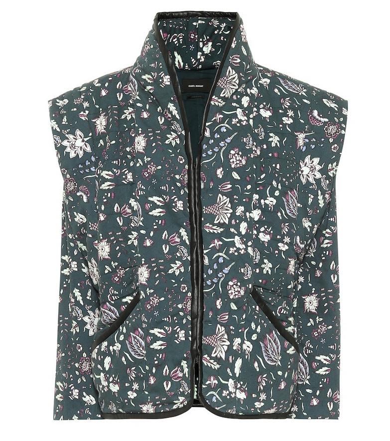 Isabel Marant Anissaya floral cotton jacket in green
