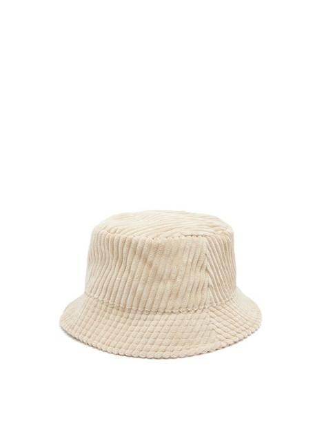 Isabel Marant - Haley Corduroy Bucket Hat - Womens - Beige
