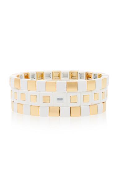 Roxanne Assoulin Full Moon Three Bracelets in white