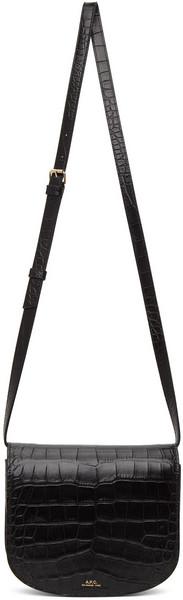 A.P.C. A.P.C. Black Croc Dina Bag