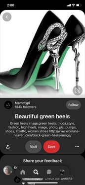 shoes,green,black,snake,heels