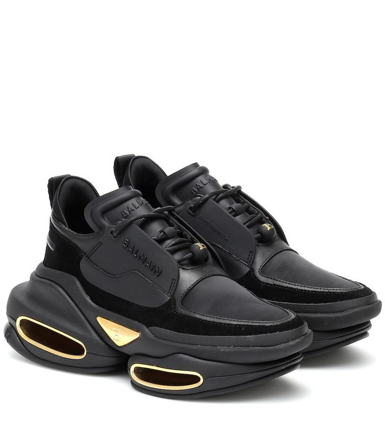 Balmain BBold leather sneakers in black