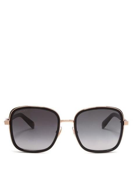 Jimmy Choo - Elva Square Frame Sunglasses - Womens - Black