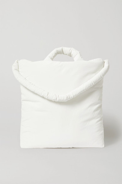 Kassl Editions - Padded Coated Cotton-blend Tote - White