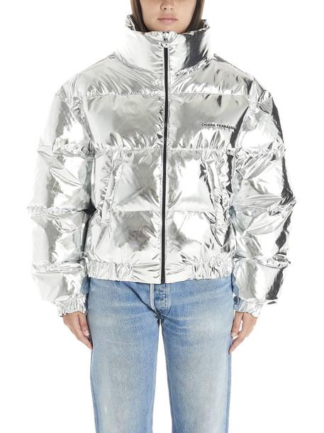 Chiara Ferragni eyes Jacket in silver