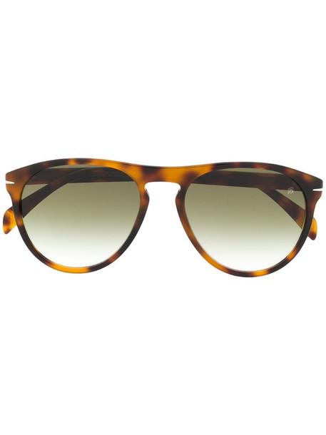 Eyewear by David Beckham tortoiseshell effect large frame sunglasses in brown